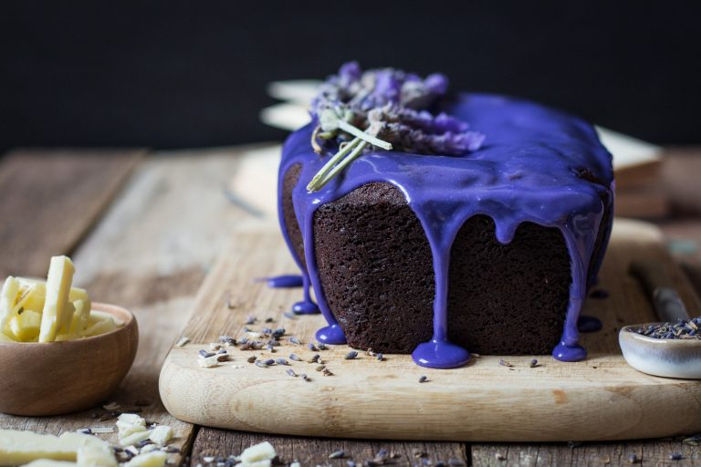 Yummy Chocolate Cake with Lavender